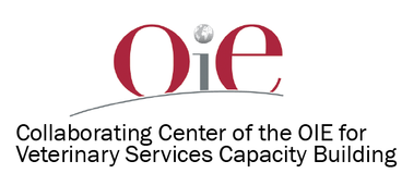 OIE logo with text that says Collaborating Center of the OIE for Veterinary Services Capacity Building